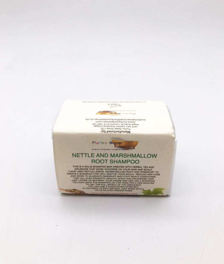 Funky Soap Nettle & Marshmallow Root Shampoo Bar - 120g