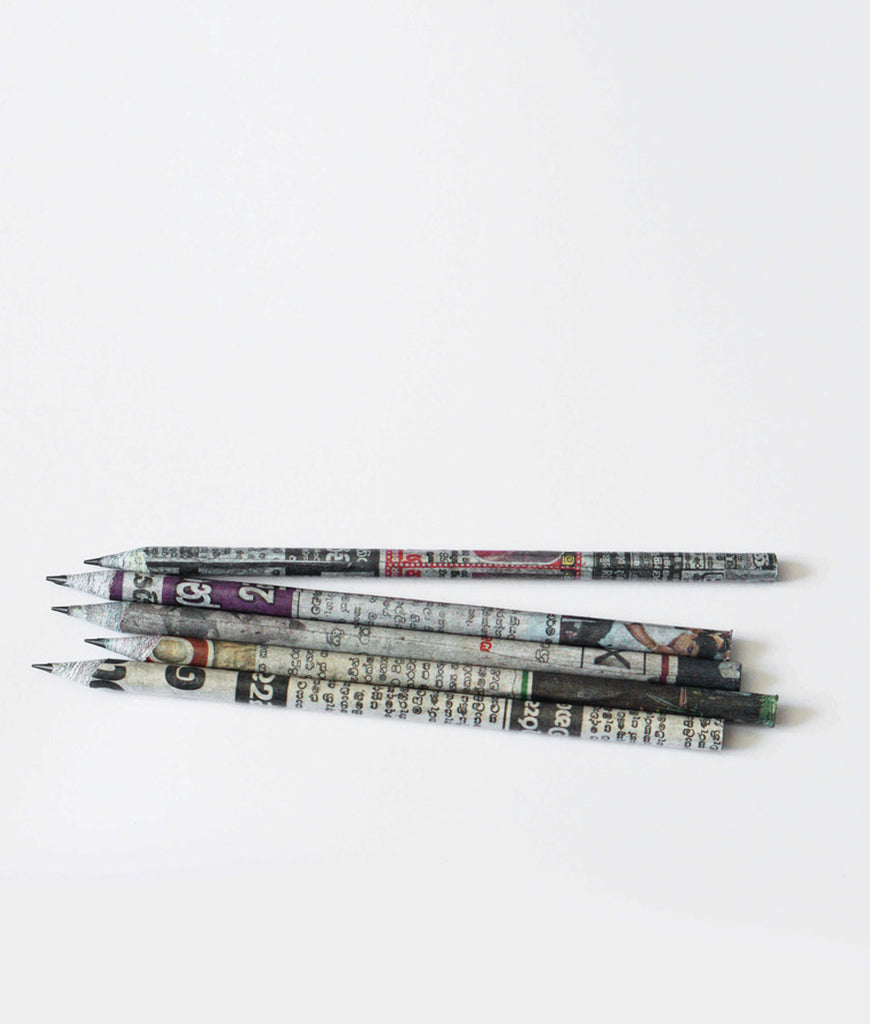 Zero Waste Club Newspaper Waste Pencils - x5 Pack