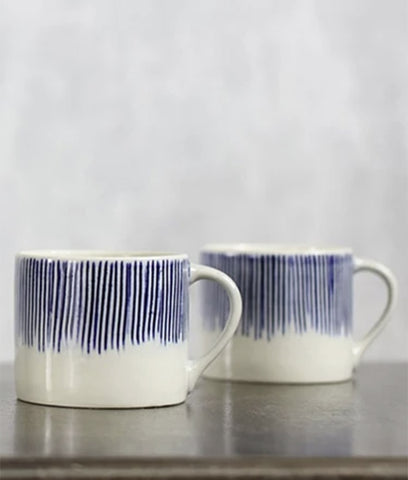 Nkuku Karuma Ceramic Coffee Mug - Blue