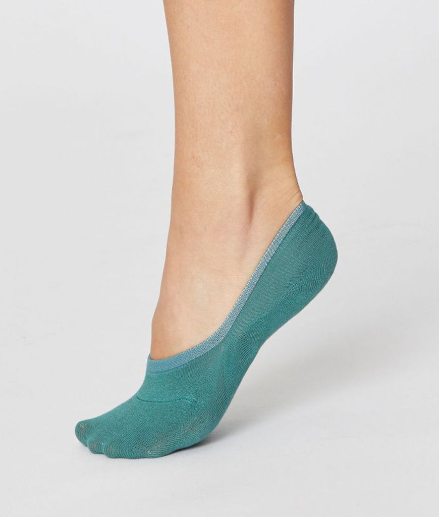Thought Clothing No Show Bamboo Socks - Lagoon Blue