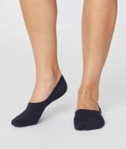 Thought Clothing No Show Bamboo Socks - Navy