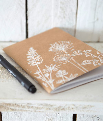 Helen Round Small Notebook A6 - Garden Design