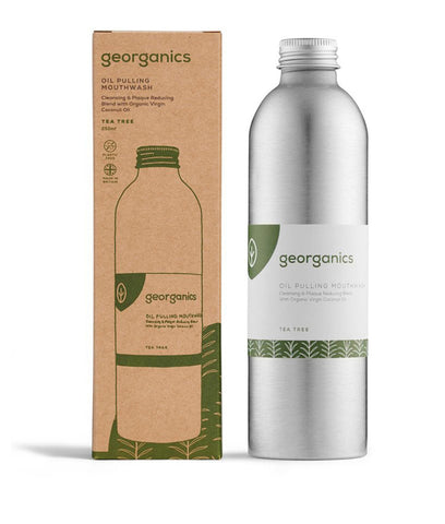 Georganics Oil Pulling Mouthwash Tea Tree - 250ml