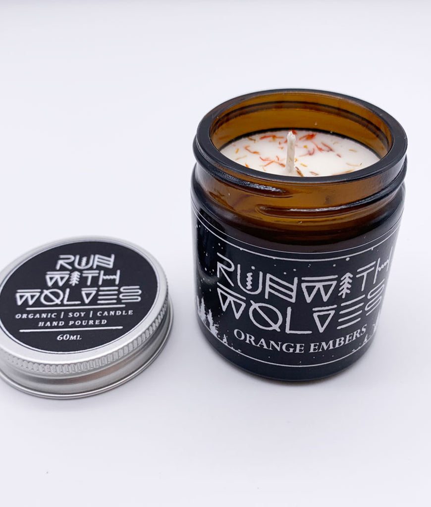 Run With Wolves Soy Wax Candle Orange Embers - MINI 60ml