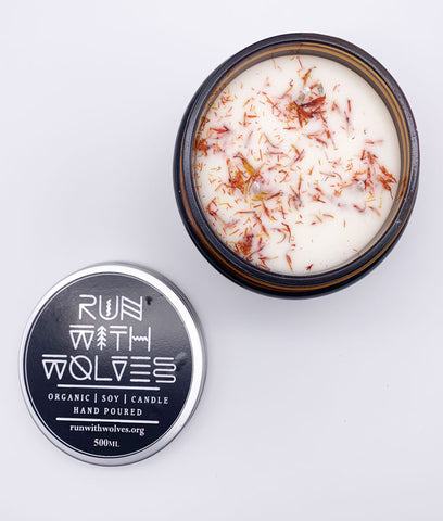 Run With Wolves Soy Wax Candle Orange Embers - x6 Tealight Set