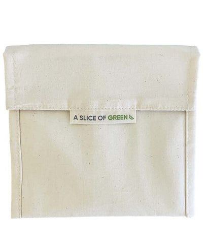 A Slice Of Green Natural Organic Cotton Lunch Baggie