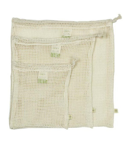 A Slice Of Green Cotton Mesh Produce Bags Mixed 3 Pack