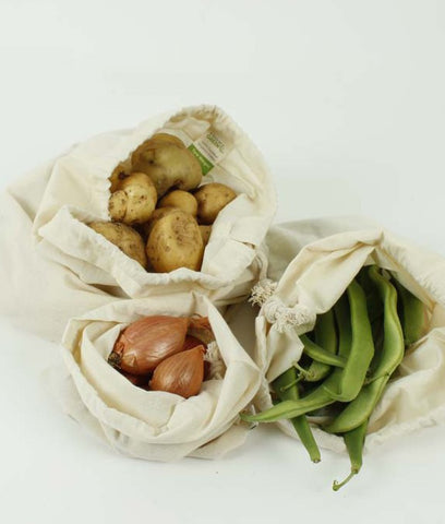 A Slice Of Green Organic Cotton Produce Bag Mixed 3 Pack