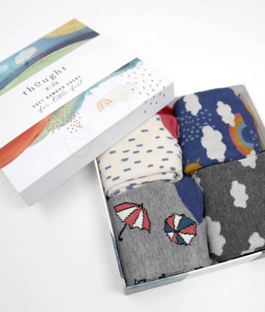 Thought Clothing Overcast Bamboo Kids Socks Gift Box