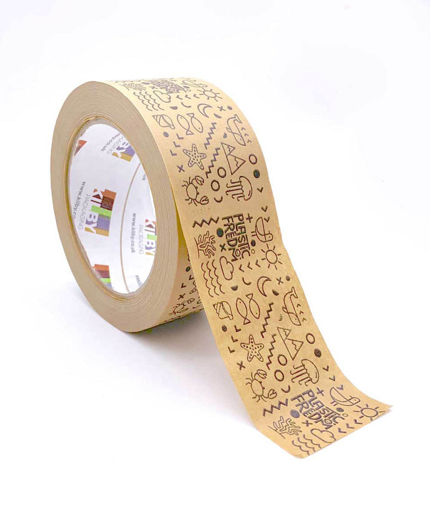 Plastic Freedom Paper Tape Printed - 48mm x50m