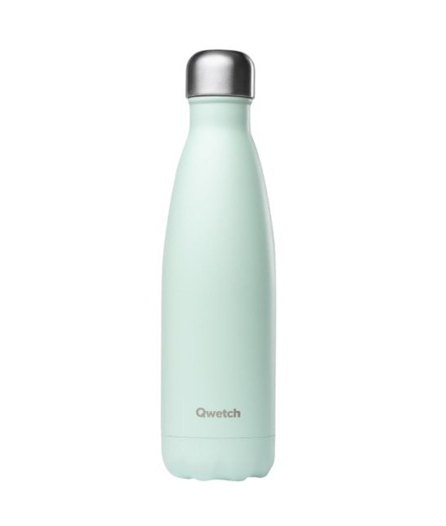 Qwetch Stainless Steel Water Bottle Pastel Mint - 500ml
