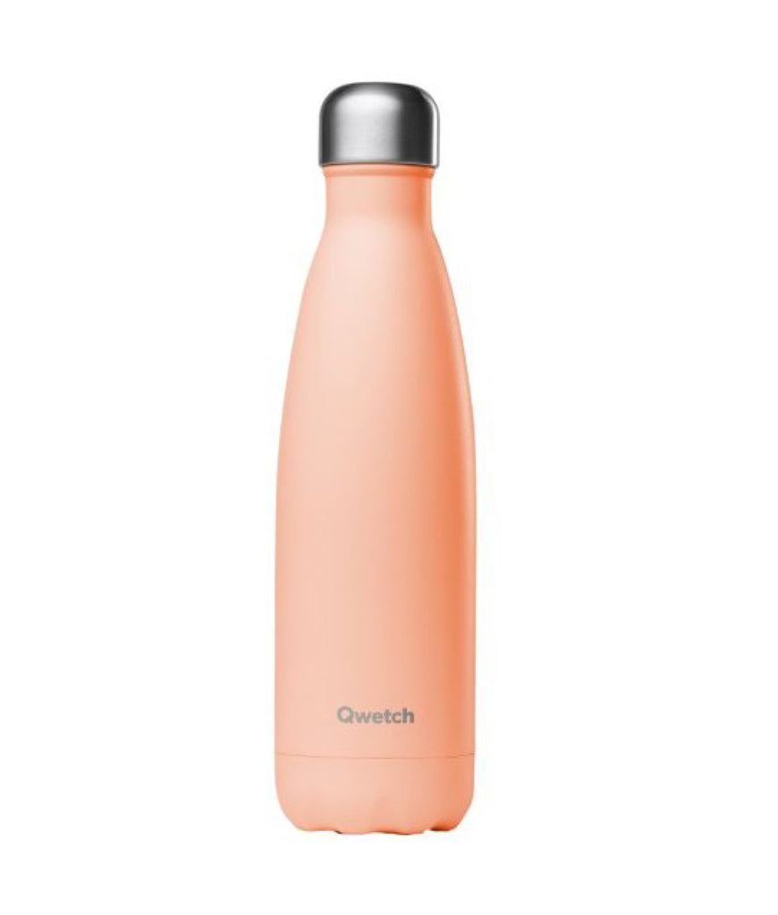 Qwetch Stainless Steel Water Bottle Pastel Peach - 500ml