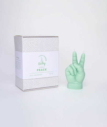 CandleHand Peace Baby Candle - Green
