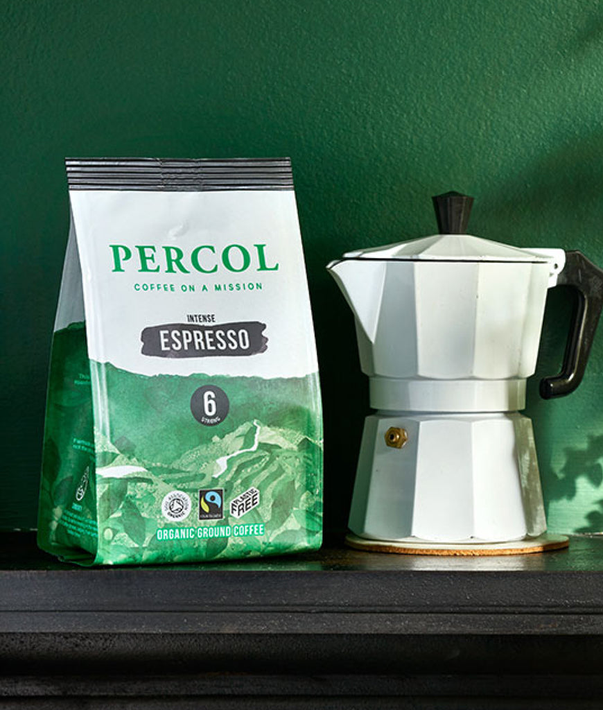 EXPIRING Percol Espresso Dark 6 Ground Coffee 200g