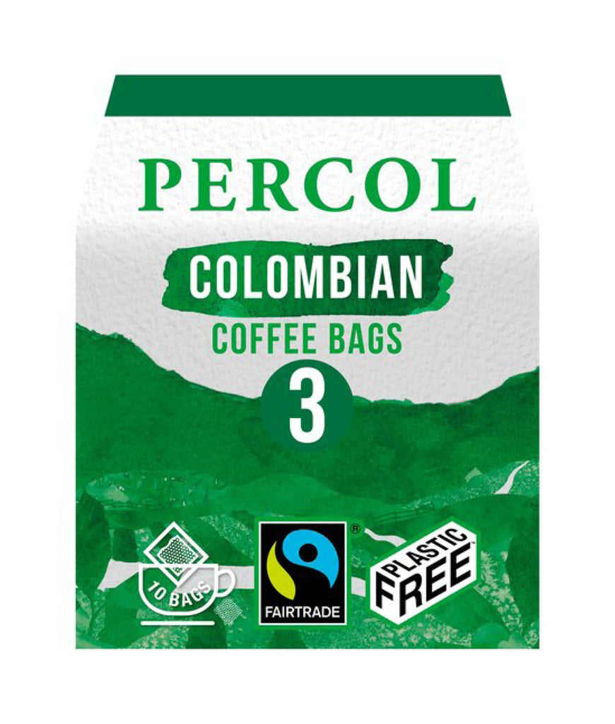 Percol Colombian Ground Coffee Bags - x10 Pack
