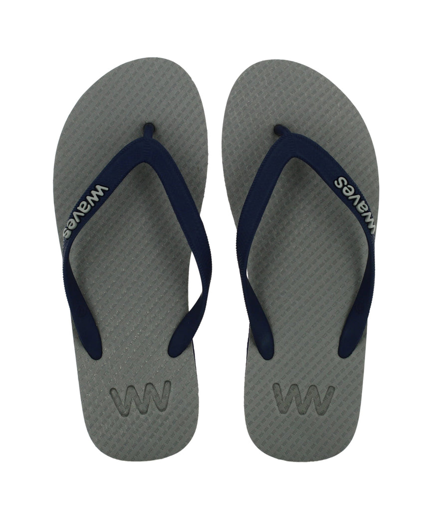 Waves UK Plastic Free Men's Flip Flops - Grey