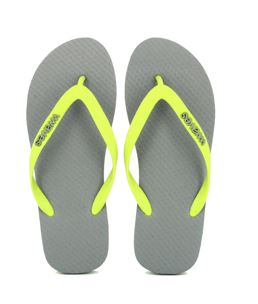 Waves UK Plastic Free Men's Flip Flops - Lime