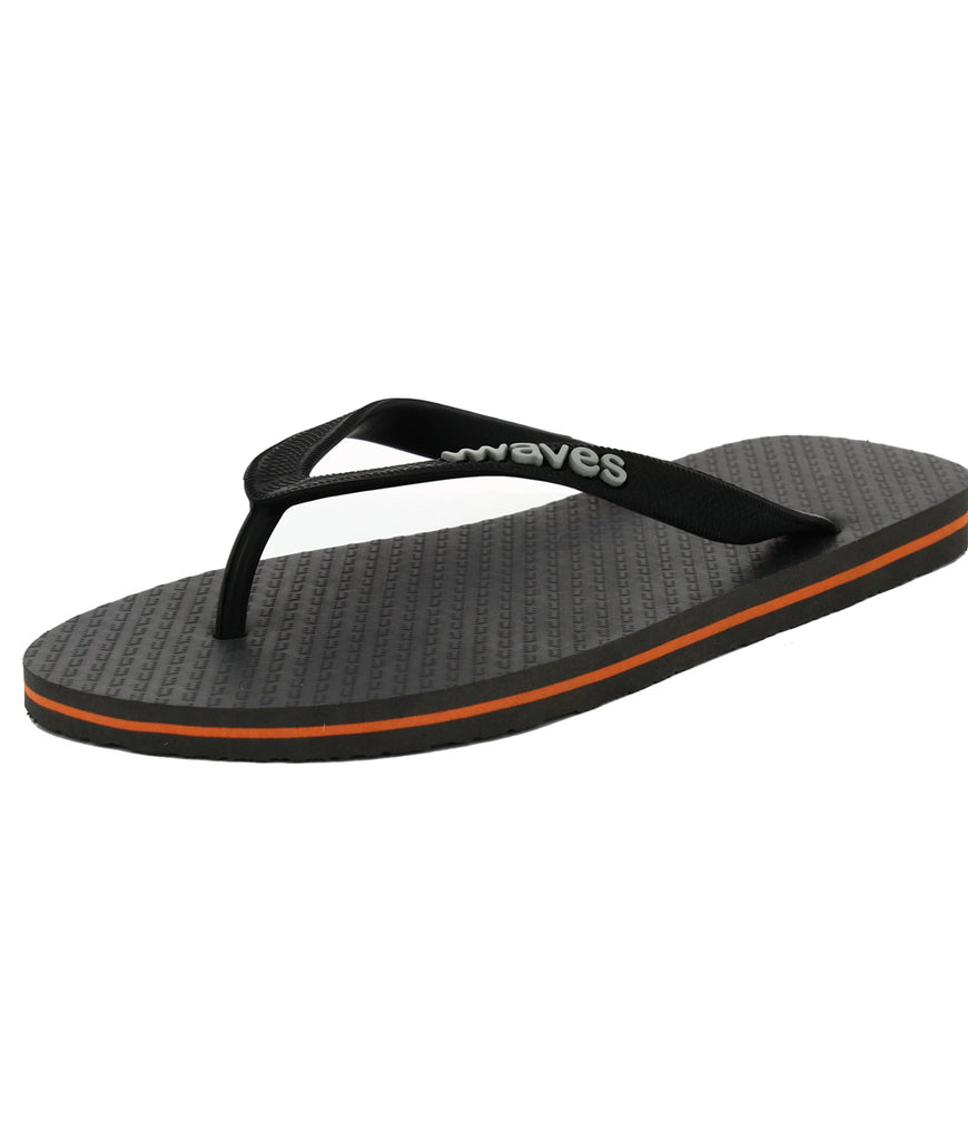 Waves UK Plastic Free Men's Flip Flops - Slate