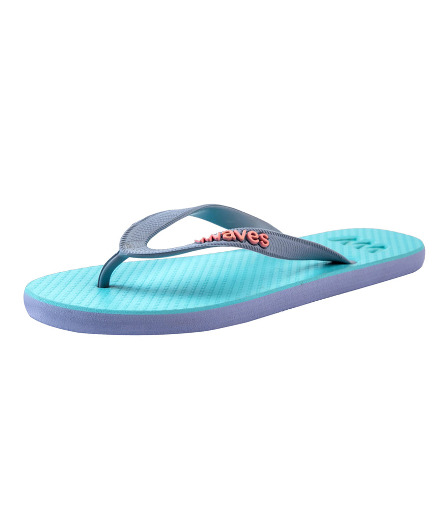 Waves UK Plastic Free Women's Flip Flops - Blue