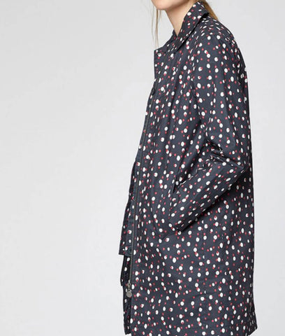 Thought Clothing Polka Organic Cotton Waterproof Coat - Graphite Grey