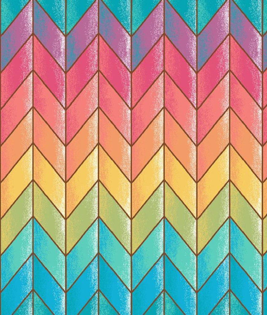 Marley's Monsters Kraft Tube & Pre-Rolled Unpaper Towels Rainbow Chevron - x12 Pack