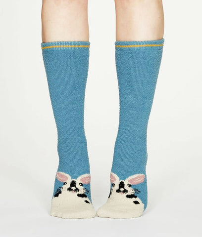 Thought Clothing Rebecca Bamboo Fuzzy Socks - Powder Blue