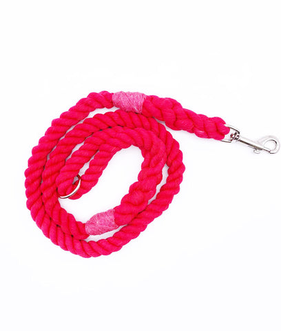 Jolly Hound Cotton Dog Lead - Red