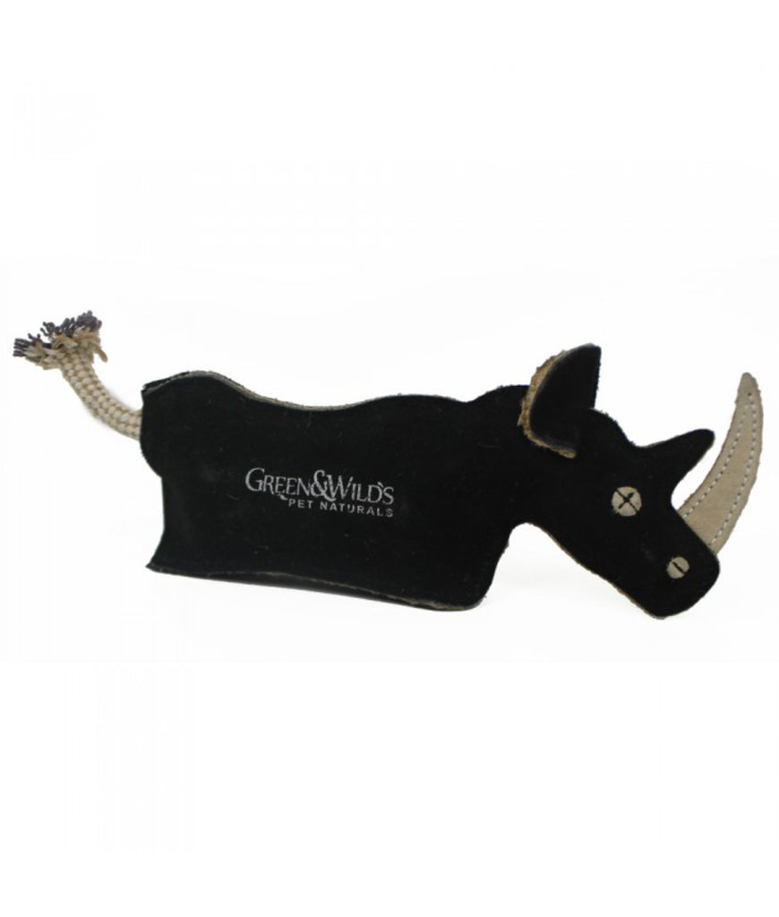 Green & Wild's Eco Dog Toy - Ronnie the Rhino