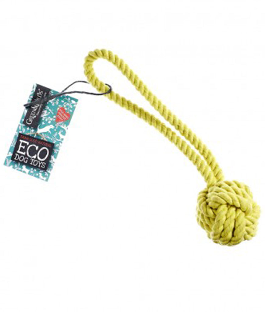 Green & Wild's Eco Dog Toy - Rope Ball