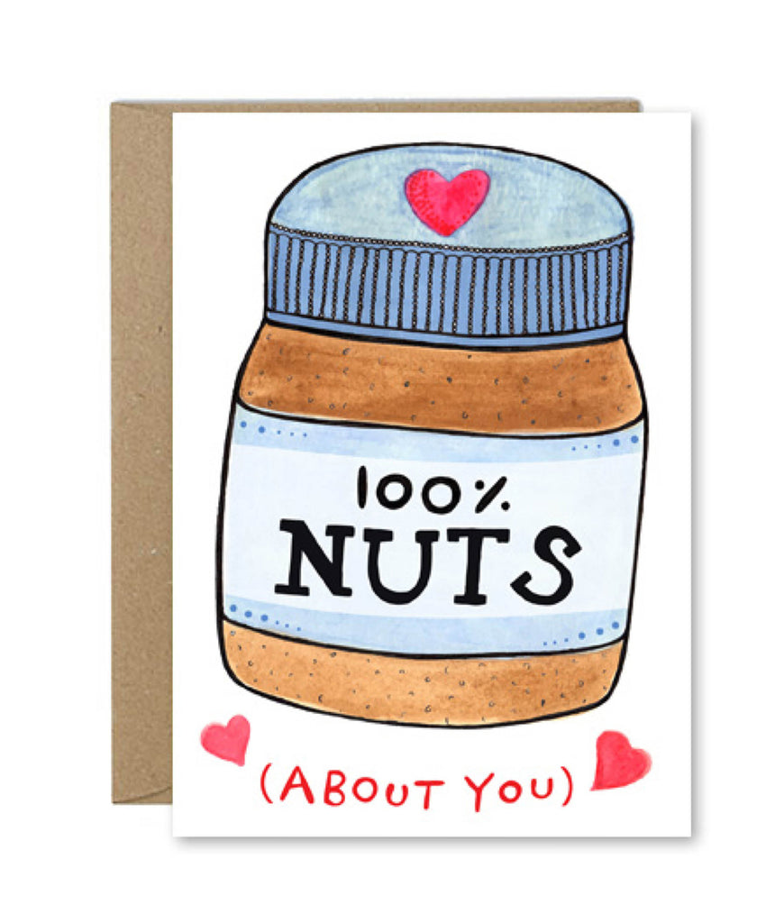 Rose & Daff 100% Nuts About You Card