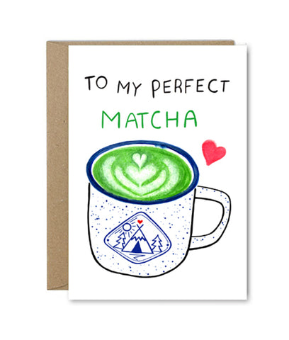 Rose & Daff My Perfect Matcha Card