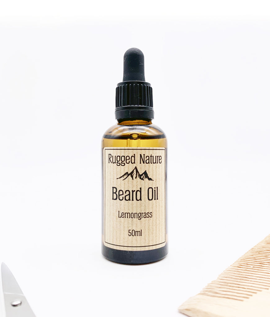 Rugged Nature Beard Oil 50ml Lemongrass - Pipette Lid