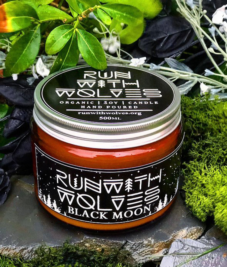 Run With Wolves Soy Wax Candle Black Moon - XL 500ml