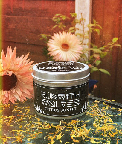 Run With Wolves Soy Wax Candle Citronella Sunset - 180ml