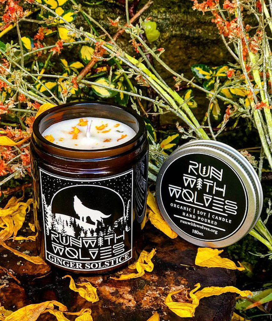 Run With Wolves Soy Wax Candle Ginger Solstice - 180ml