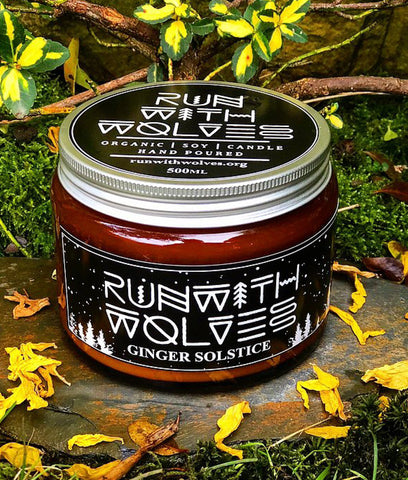 Run With Wolves Soy Wax Candle Ginger Solstice - XL 500ml