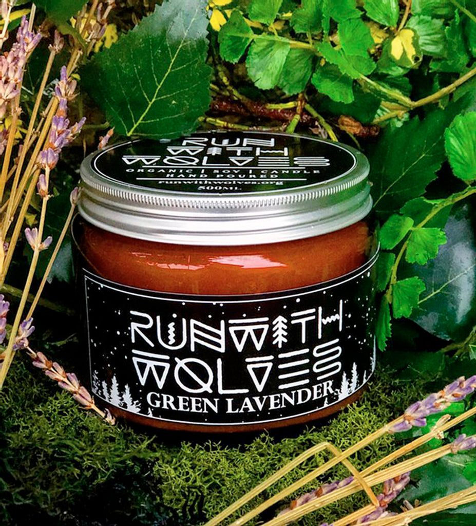 Run With Wolves Soy Wax Candle Green Lavender - XL 500ml