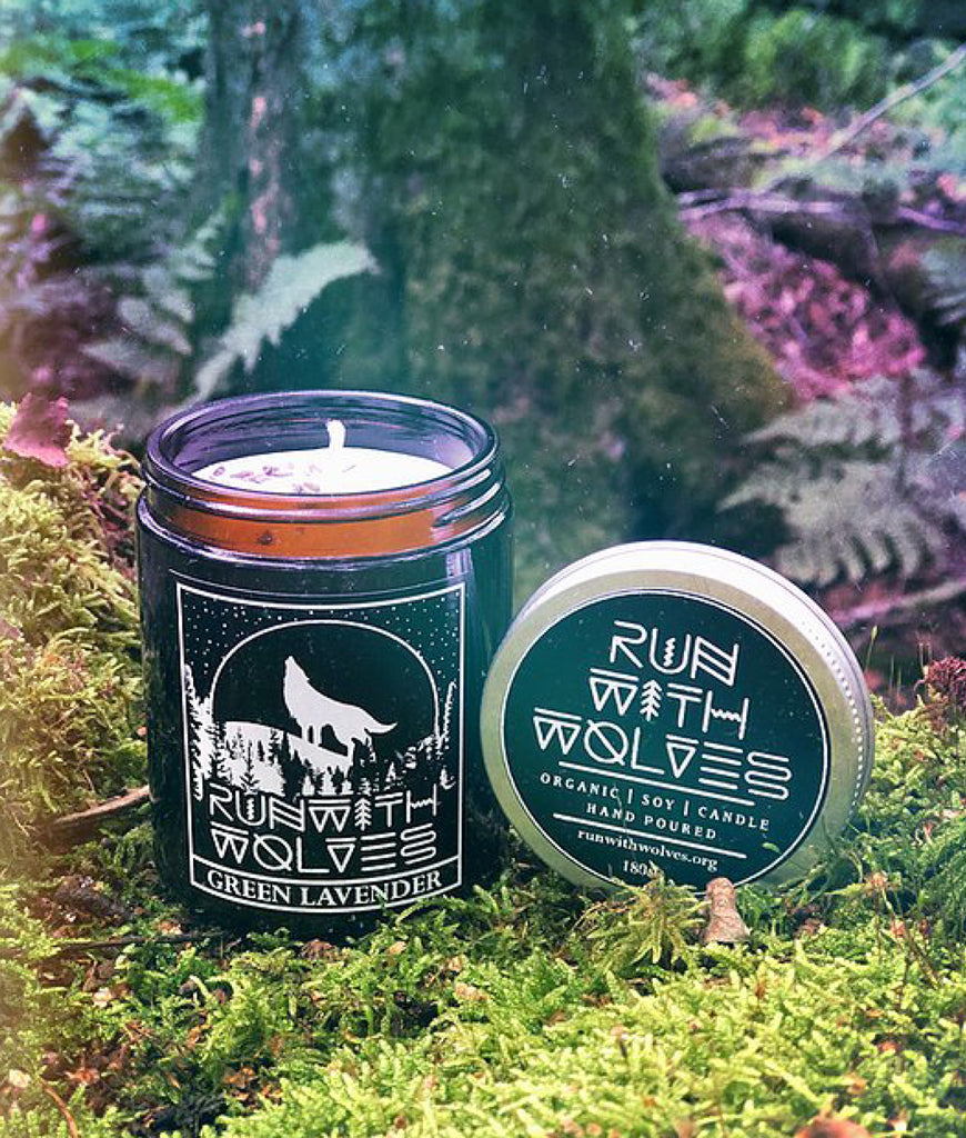 Run With Wolves Soy Wax Candle Green Lavender - 180ml