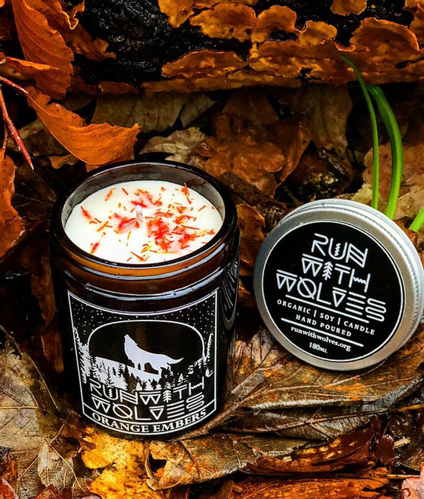 Run With Wolves Soy Wax Candle Orange Embers - 180ml