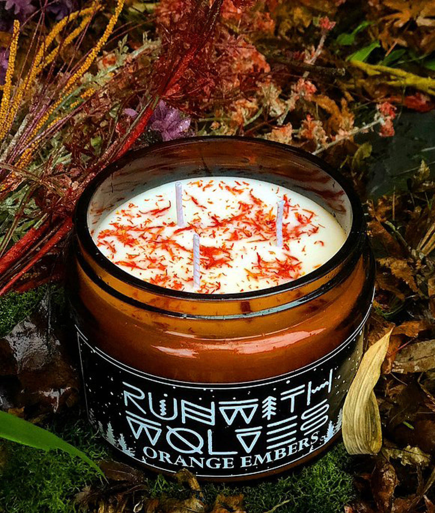 Run With Wolves Soy Wax Candle Orange Embers - XL 500ml