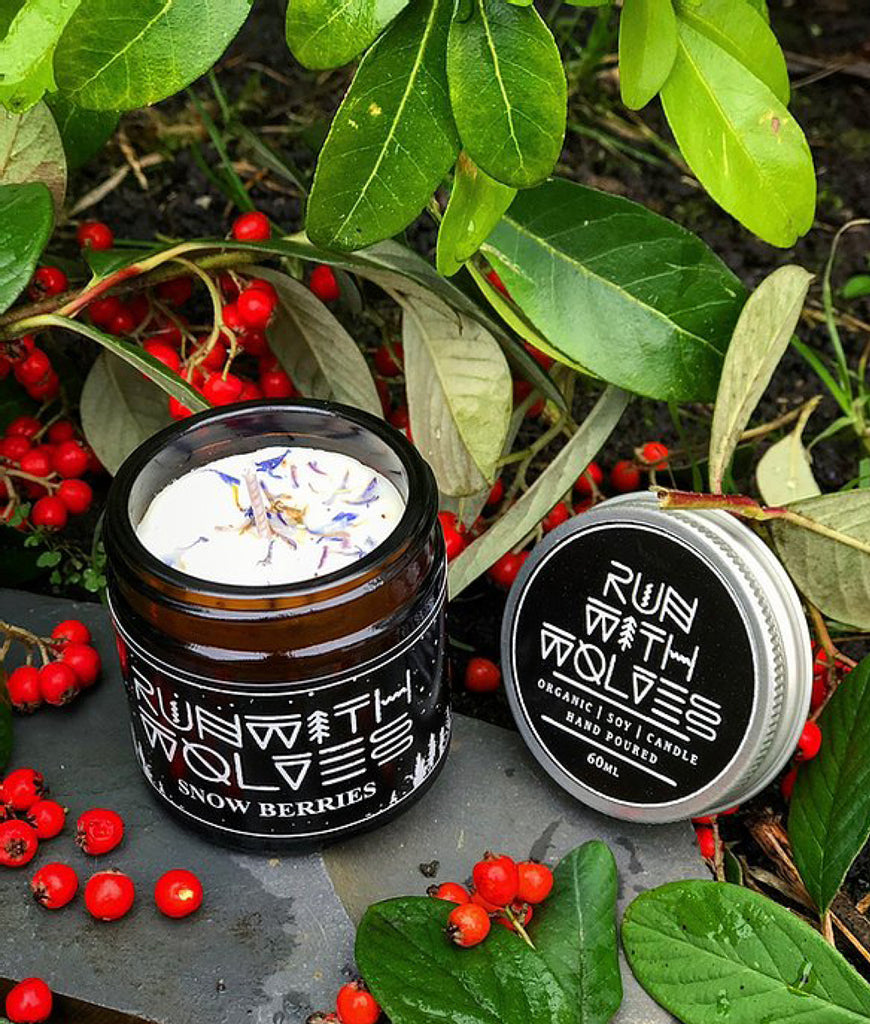 Run With Wolves Soy Wax Candle Snow Berries - MINI 60ml