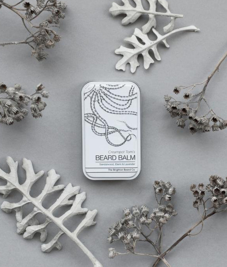 Brighton Beard Co Creampot Tom's Beard Balm 80ml - Sandalwood, Elemi & Lavender