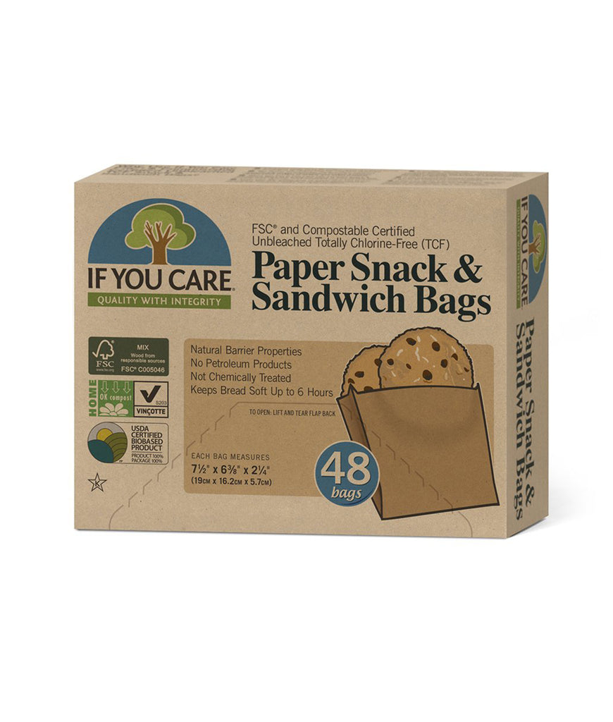 If You Care Paper Sandwich Bags - x48 Pack