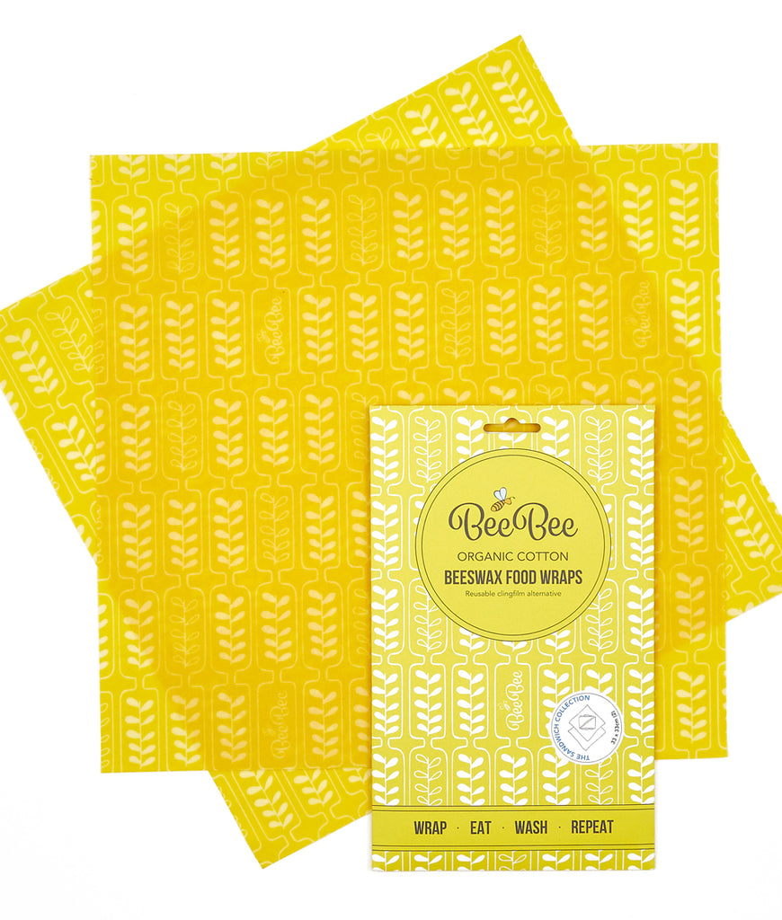 BeeBeeWraps Wax x2 Sandwich Pack - Wheat