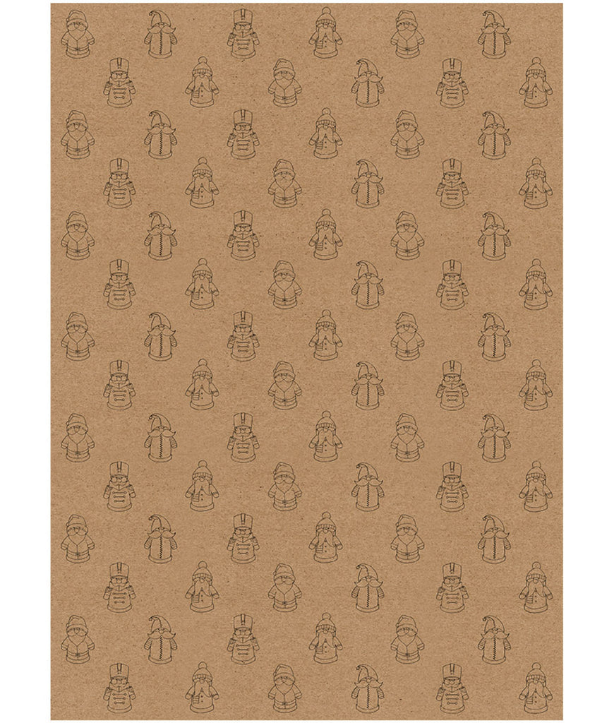 Wrapped By Alice Christmas Wrapping Paper x1 Sheet - Santa