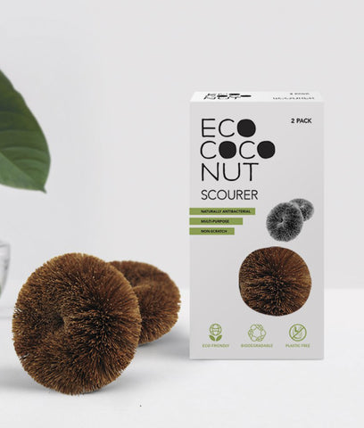 EcoCoconut Coconut Scourers Twin Pack