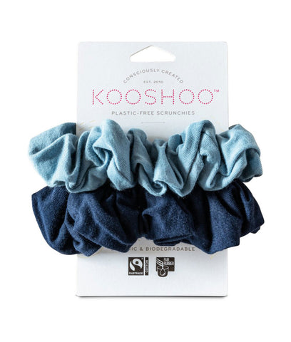 KooShoo Organic Hair Scrunchies - Evening Sky