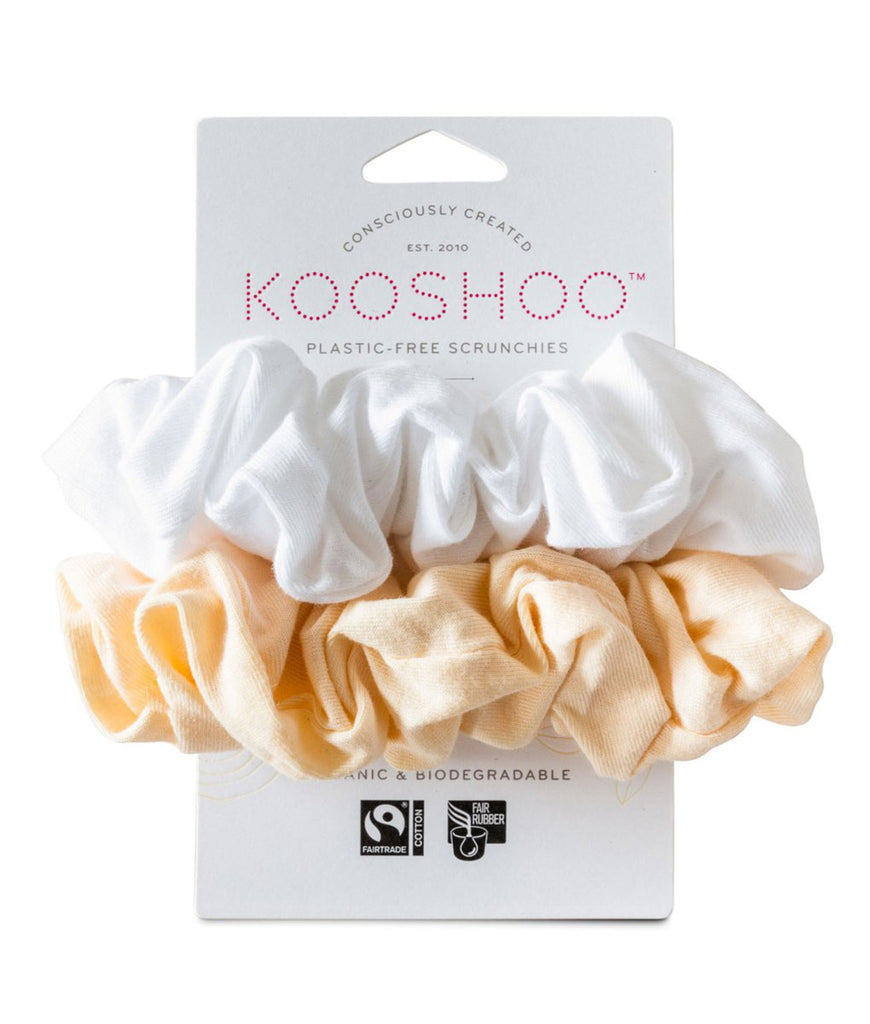 KooShoo Organic Hair Scrunchies - Natural Light