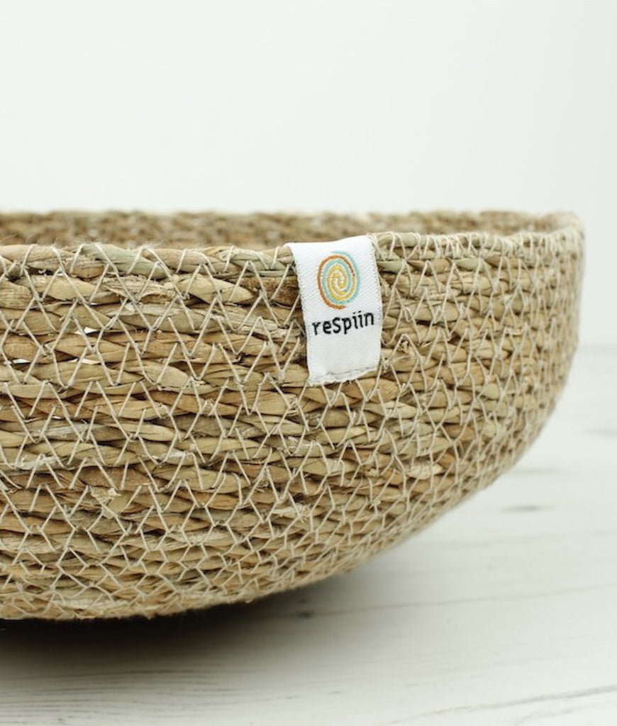 ReSpiin Seagrass Large Basket - Natural