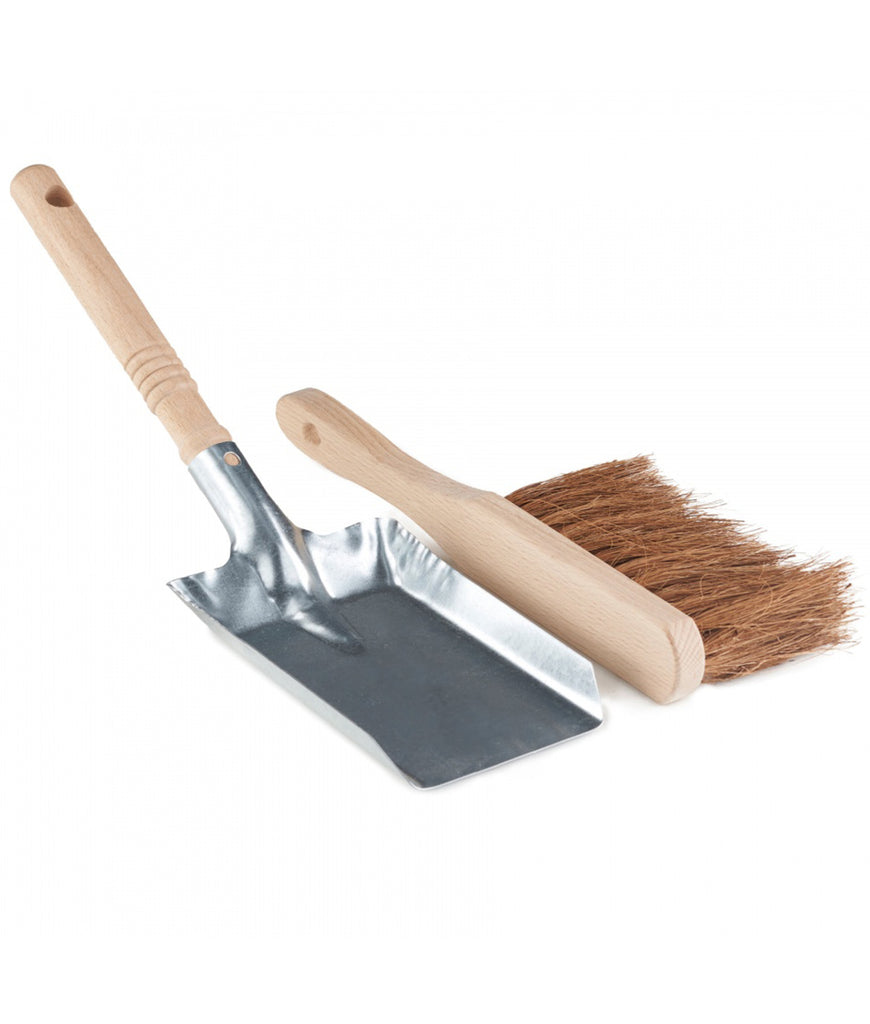 Eco Living Dust Pan & Brush - Silver